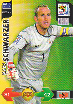 Mark Schwarzer Australia Panini 2010 World Cup #25