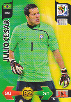 Julio Cesar Brazil Panini 2010 World Cup #33