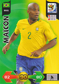 Maicon Brazil Panini 2010 World Cup #35