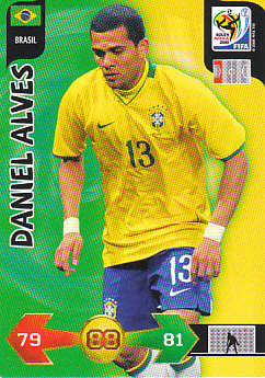 Daniel Alves Brazil Panini 2010 World Cup #36
