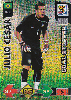 Julio Cesar Brazil Panini 2010 World Cup Goal Stopper #51