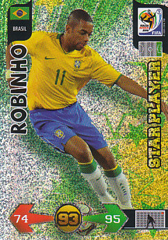 Robinho Brazil Panini 2010 World Cup Star Player #52
