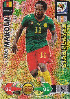 Jean Makoun Cameroon Panini 2010 World Cup Star Player #63