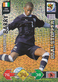 Boubacar Barry Cote D'Ivoire Panini 2010 World Cup Goal Stopper #74