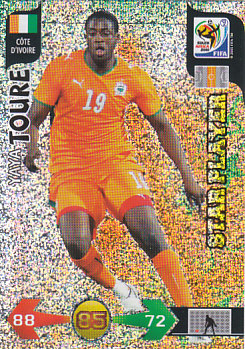 Yaya Toure Cote D'Ivoire Panini 2010 World Cup Star Player #75