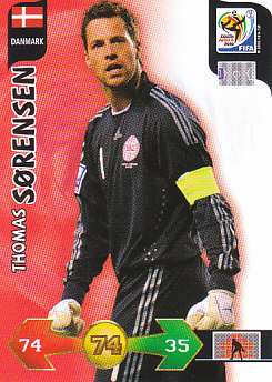 Thomas Sorensen Denmark Panini 2010 World Cup #76