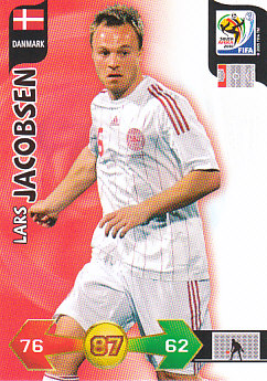 Lars Jacobsen Denmark Panini 2010 World Cup #77