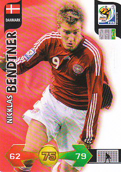 Nicklas Bendtner Denmark Panini 2010 World Cup #82