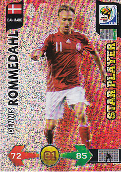 Dennis Rommedahl Denmark Panini 2010 World Cup Star Player #86