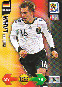 Philipp Lahm Germany Panini 2010 World Cup #88