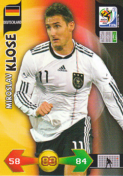Miroslav Klose Germany Panini 2010 World Cup #98