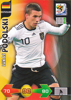 Lukas Podolski Germany Panini 2010 World Cup #99