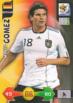 Mario Gomez Germany Panini 2010 World Cup #100