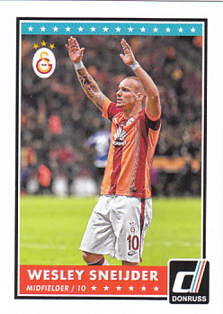 Wesley Sneijder Galatasaray AS 2015 Donruss Soccer Cards #36