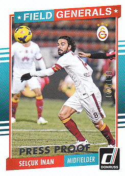 Selcuk Inan Galatasaray AS 2015 Donruss Soccer Cards Field Generals #13