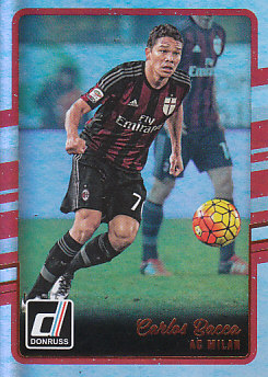 Carlos Bacca A.C. Milan 2016/17 Donruss Soccer Cards Silver Parallel #2