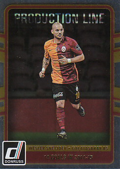 Wesley Sneijder Galatasaray AS 2016/17 Donruss Soccer Cards Production Line #32
