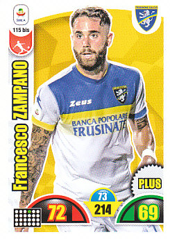Francesco Zampano Frosinone 2018/19 Panini Calciatori Adrenalyn XL Plus #115BIS