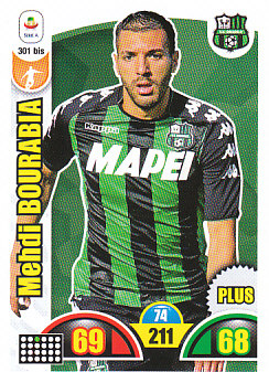 Mehdi Bourabia Sassuolo 2018/19 Panini Calciatori Adrenalyn XL Plus #301BIS