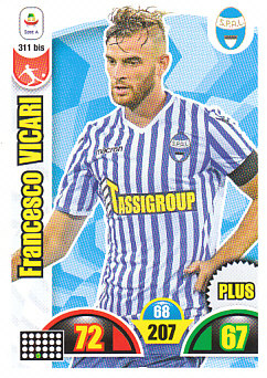 Francesco Vicari Spal 2018/19 Panini Calciatori Adrenalyn XL Plus #311BIS