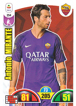 Antonio Mirante AS Roma 2018/19 Panini Calciatori Adrenalyn XL #254