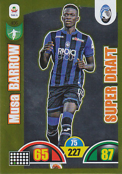 Musa Barrow Atalanta BC 2018/19 Panini Calciatori Adrenalyn XL Super Draft #406