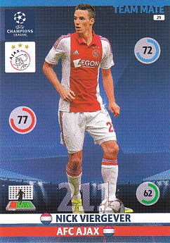 Nick Viergever AFC Ajax 2014/15 Panini Champions League #29