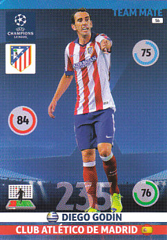 Diego Godin Atletico Madrid 2014/15 Panini Champions League #56
