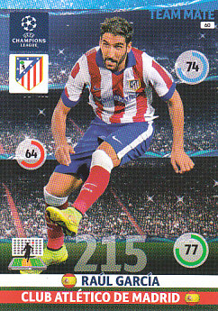 Raul Garcia Atletico Madrid 2014/15 Panini Champions League #60