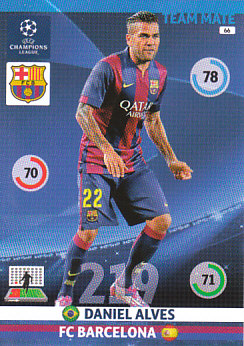 Dani Alves FC Barcelona 2014/15 Panini Champions League #66