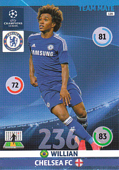 Willian Chelsea 2014/15 Panini Champions League #120