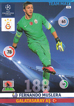 Fernando Muslera Galatasaray AS 2014/15 Panini Champions League #136