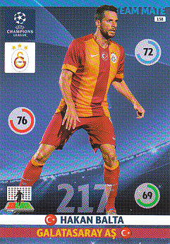 Hakan Balta Galatasaray AS 2014/15 Panini Champions League #138