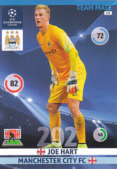 Joe Hart Manchester City 2014/15 Panini Champions League #172