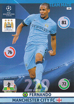 Fernando Manchester City 2014/15 Panini Champions League #174