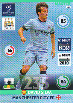 David Silva Manchester City 2014/15 Panini Champions League Master #180