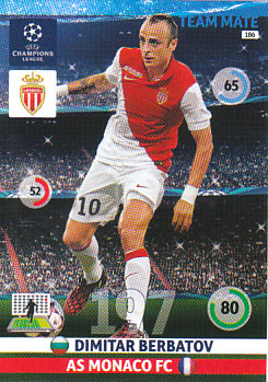 Dimitar Berbatov AS Monaco 2014/15 Panini Champions League #186
