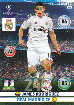 James Rodriguez Real Madrid 2014/15 Panini Champions League #211