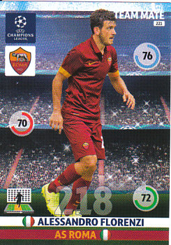 Alessandro Florenzi AS Roma 2014/15 Panini Champions League #221
