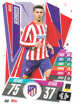 Mario Hermoso Atletico Madrid 2020/21 Topps Match Attax CL #ATL06