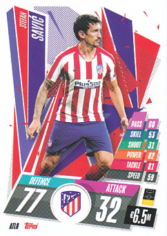 Stefan Savic Atletico Madrid 2020/21 Topps Match Attax CL #ATL08