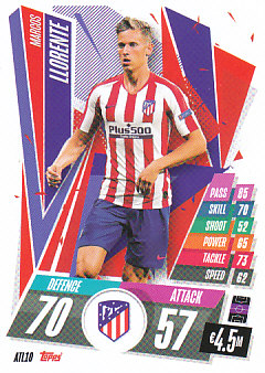 Marcos Llorente Atletico Madrid 2020/21 Topps Match Attax CL #ATL10