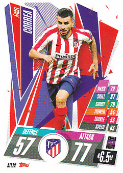 Angel Correa Atletico Madrid 2020/21 Topps Match Attax CL #ATL12