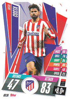 Diego Costa Atletico Madrid 2020/21 Topps Match Attax CL #ATL16