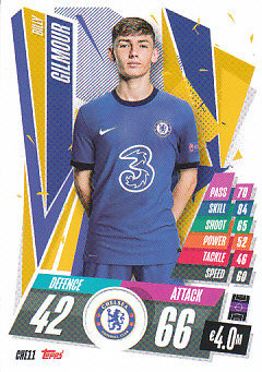 Billy Gilmour Chelsea 2020/21 Topps Match Attax CL #CHE11