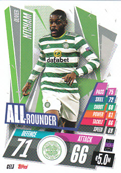 Olivier Ntcham Celtic Glasgow 2020/21 Topps Match Attax CL All Rounder #CEL03