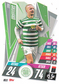 Leigh Griffiths Celtic Glasgow 2020/21 Topps Match Attax CL #CEL11