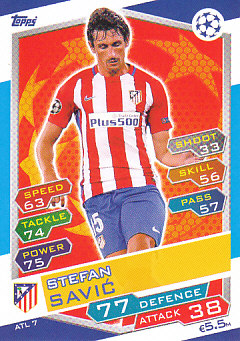 Stefan Savic Atletico Madrid 2016/17 Topps Match Attax CL #ATL07