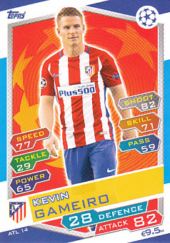 Kevin Gameiro Atletico Madrid 2016/17 Topps Match Attax CL #ATL14