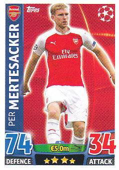 Per Mertesacker Arsenal 2015/16 Topps Match Attax CL #4